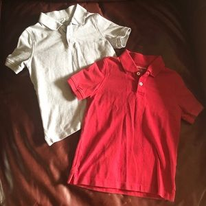 EUC Sz XS gray & red school uniform polos